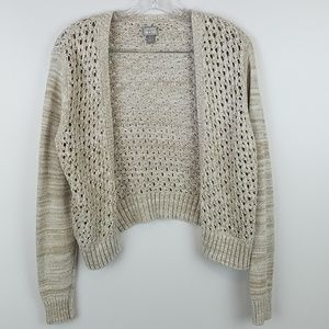 CONVERSE | OATMEAL CROPPED CARDIGAN